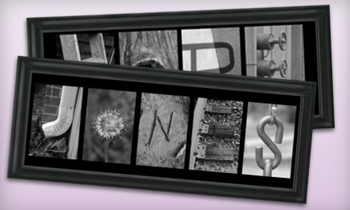 Frame the Alphabet: $74 for a Customized Alphabet Frame from Frame the Alphabet