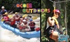 Ocoee Outdoors TNSL - Benton: $39 for a Zipline Tour ($79 Value) or $49 for a Zipline and Rafting Trip Combo ($99 Value) from Ocoee Outdoors in Benton, TN