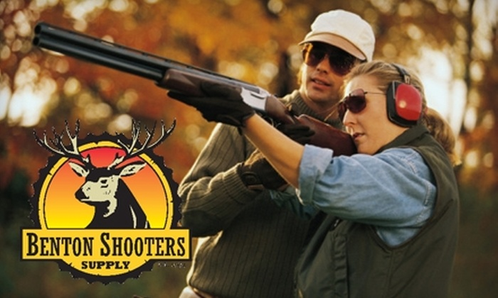 Benton Sporting Clays - 2: $24 for 100 Clay Targets and Cart Rental (Up to $48 Value) or $75 for a One-Year Membership ($150 Value) at Benton Sporting Clays