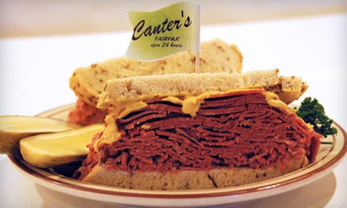 Canter's Deli - Fairfax: $11 for $22 Worth of Deli Fare at Canter's Deli