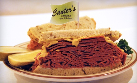 $22 Groupon to Canter's Deli - Canter's Deli in Los Angeles