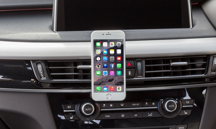 One or Two Magnetic Smartphone Holders For Car Air Vent from £4.49