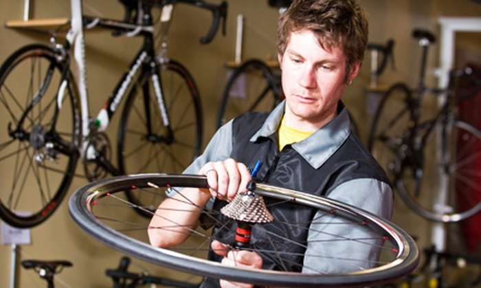 Peloton Cyclery - Saint Charles: Basic Bike Tune-Up or Existing Bike Fitting at Peloton Cyclery in St. Charles (Half Off)