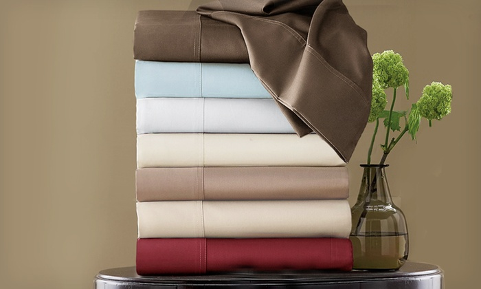 Hotel Grand 600TC Egyptian Cotton Rich Sheets: $49.99 for Egyptian Cotton Blend Sheets ($129.99 List Price). Eight Colors Available. Free Shipping and Returns.