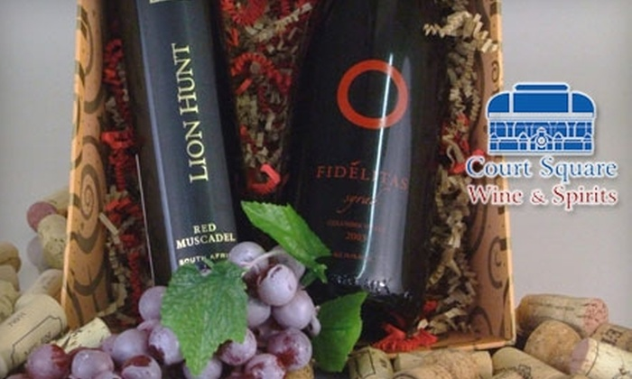 Court Square Wine & Spirits - Sunnyside: $25 for One Specialty Wine or Spirits Basket at Court Square Wine & Spirits in Long Island City ($50 Value)