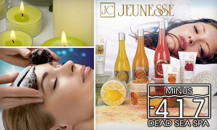 Minus -417 Dead Sea Spa - Richmond Hill: $89 for a Jeunesse Dead Sea Gift Set and Total Effect Age-Minimizing Facial at Minus -417 Dead Sea Spa ($341 Value)
