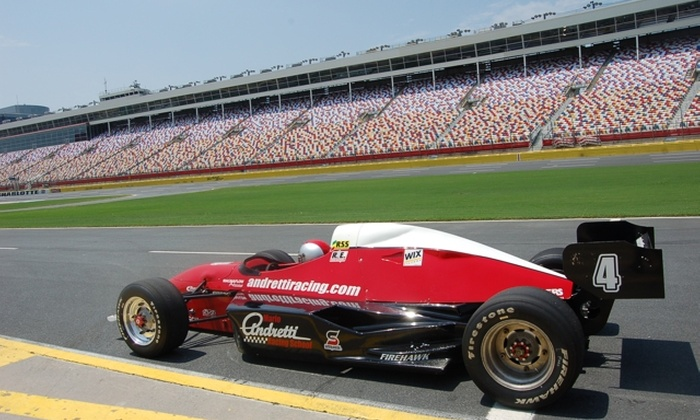 Charlotte Motor Speedway - Charlotte Motor Speedway: Racecar Ride or Racing Experience from Mario Andretti Racing Experience at Charlotte Motor Speedway. Two Options Available.
