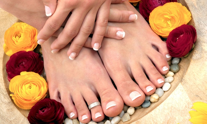 Nails by Angela Davis - Gainesville: Spa MeMani-Pedis or Acrylic Nails at Nails by Angela Davis(Up to 62% Off). Three Options Available.