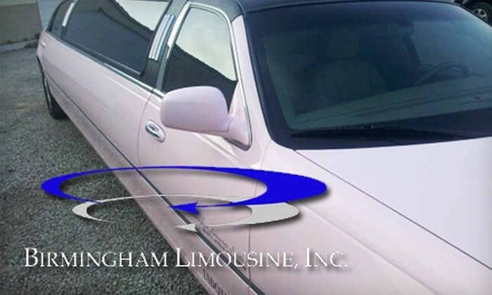 Birmingham Limousine - Birmingham: $45 for a One-Hour Ride in Any Sedan or Stretch Vehicle from Birmingham Limousine (Up to $175 Value).