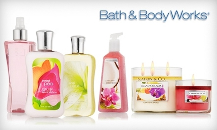 Bath & Body Works: $10 for $20 or $15 for $30 at Bath & Body Works' Online Store