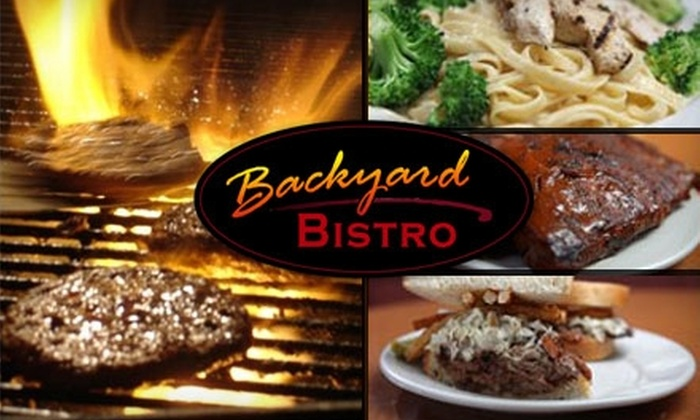 10 for barbecue at backyard bistro backyard bistro groupon