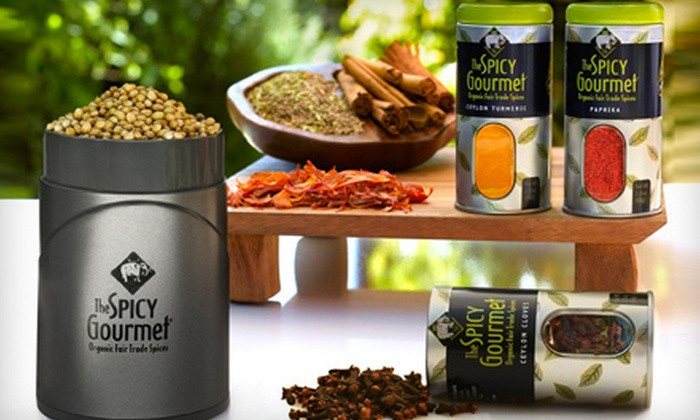 The Spicy Gourmet: $10 for $20 Worth of Organic Fair-Trade Spices, a Four-Spice Sampler Pack and Recipe Book from The Spicy Gourmet ($48 Value)