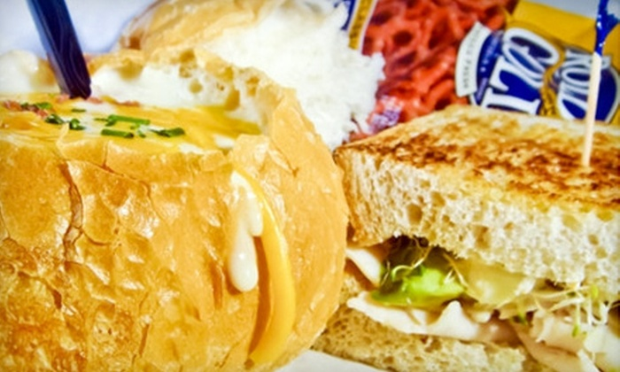 Quinton's Bar & Deli - Multiple Locations: $7 for $15 Worth of Sandwiches, Burgers, and Soups at Quinton's Bar & Deli in Coralville or Iowa City
