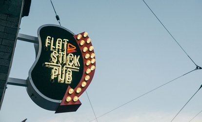 image for Beer, Golf, and Duffleboard Package for Two or Four People at Flatstick Pub in Downtown Seattle (42% Off)
