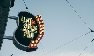 Beer, Golf, and Duffleboard Package for Two or Four People at Flatstick Pub in Downtown Seattle (44% Off)