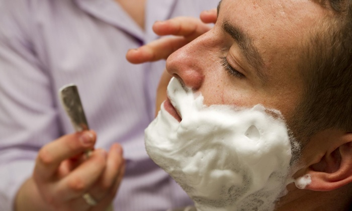 Vic's Chop Shop - Hoover: A Men's Haircut and Shave from Vic's Chop Shop (56% Off)