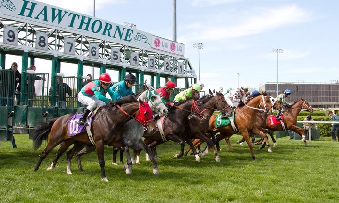 Hawthorne Race Course - Hawthorne Race Course: Race-Day Weekend Package for One, Two, or Four at Hawthorne Race Course (Up to 59% Off)