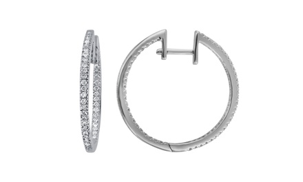 0.25–5.00 CTTW Diamond Hoop Earrings by Brilliant Diamond