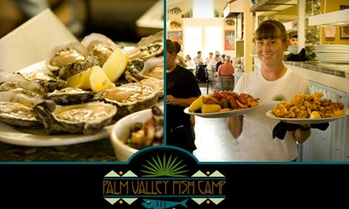 Palm Valley Fish Camp - Palm Valley: $12 for $25 Worth of Dinner Fare or $7 for $15 Worth of Lunch Fare at Palm Valley Fish Camp