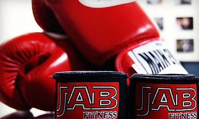 Jab Fitness - Tempe: $40 for One Month of Unlimited Classes, One Private Lesson, and Heavy-Bag Gloves at Jab Fitness in Tempe ($170 Value)