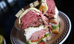 Lucky Dill Deli: Yankee Slam Breakfast, New York–Style Sandwiches, or Drinks and Appetizers at Lucky Dill Deli