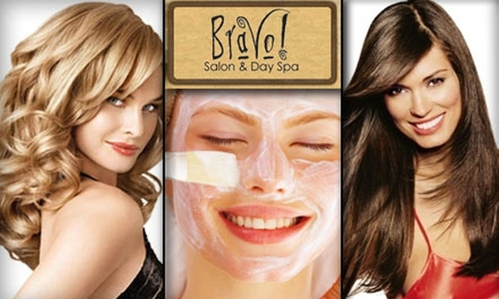 Bravo Salon & Day Spa - Central Scottsdale: $85 for a Facial, Massage, Haircut, Styling, and Moroccan Oil Scalp Massage at Bravo Salon & Day Spa ($149 Value)