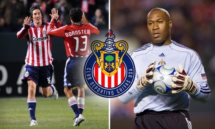 Chivas USA - Carson: $19 for One Preferred-Level Seat to a Chivas USA Soccer Game ($38 Value). Buy Here for Saturday, April 24, vs. San Jose Earthquakes at 7:30 p.m. Click Below for Additional Games.