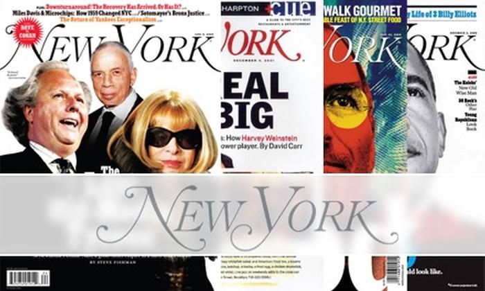 """New York"" Magazine - New York City: $13 for 54 Issues of ""New York"" Magazine ($24.97 Value)"
