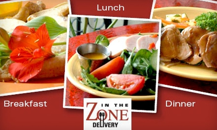 In the Zone - San Antonio: $19 for One Day of Freshly Prepared Breakfast, Lunch, Dinner, Dessert, and Snack from In The Zone Delivery (Up to $60 Value)