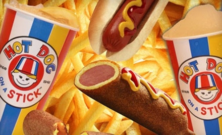 $10 Groupon to Hot Dog on a Stick - Hot Dog on a Stick in