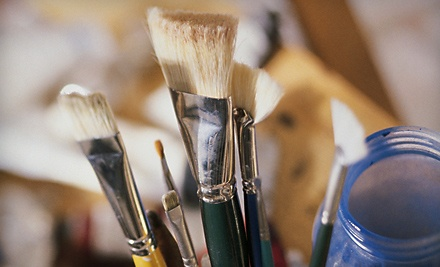 Paint and Pour Class for 2 People (up to a $36 value) - Bull City Craft in Durham
