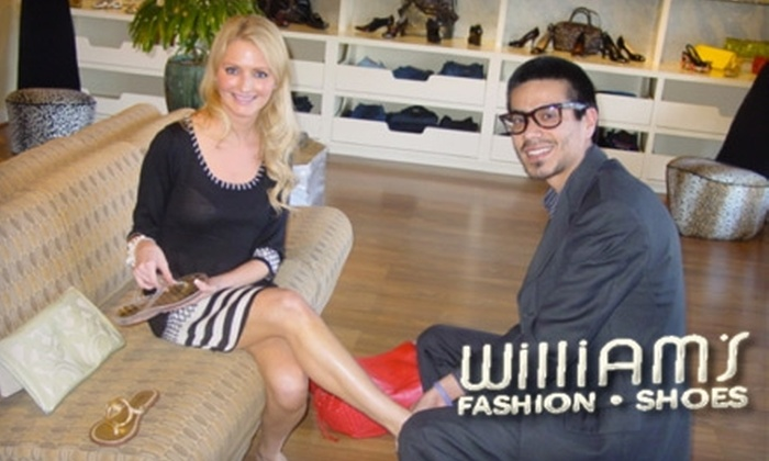 William's Fashion Shoes - Bay Area: $25 for $50 Worth of Fashionable Footwear at William's Fashion Shoes