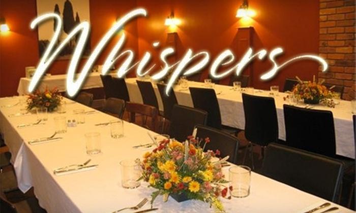 Whispers Restaurant - Elora: $10 for $20 Worth of Vegetarian Cuisine at Whispers Restaurant