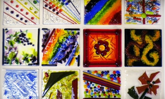 """Rainbow Artistic Glass - West Omaha: $14 for a Glass-Fusing Session Including a 6""""x6"""" Art Piece at Rainbow Artistic Glass ($29 Value)"""