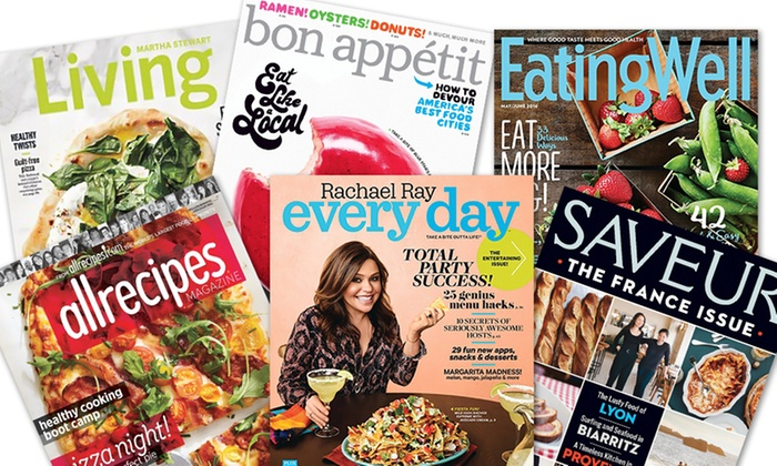 1-Year Food Magazine Subscriptions (Up to 79% Off)