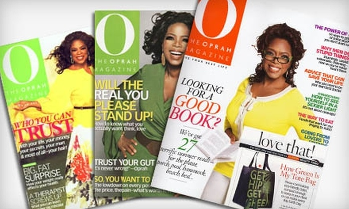 """O, The Oprah Magazine"" - Modesto: $10 for a One-Year Subscription to ""O, The Oprah Magazine"" (Up to $28 Value)"