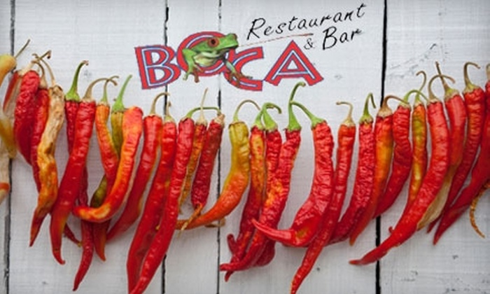 Boca Restaurant & Bar - Chemistry: $15 for $30 Worth of Authentic Costa Rican Cuisine at Boca Restaurant & Bar in Waltham