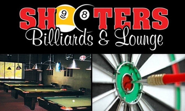 Shooters Billiards and Lounge - Boston: $20 for $50 Worth of Snacks, Drinks, and Billiards at Shooters Billiards and Lounge in Pelham, New Hampshire