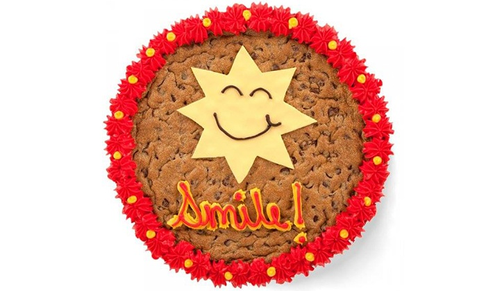 Mrs. Fields - Multiple Locations: $13 for a 13-Inch Cookie Cake with Artwork at Mrs. Fields ($25.99 Value)