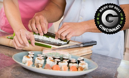 2-Hour Sushi Making Class for 2 ($80 value) - Sushi Bears in Cincinnati