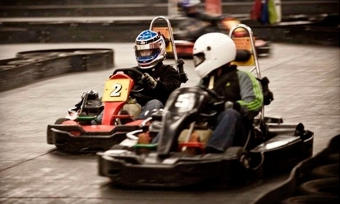 Sykart Indoor Racing Center - Tukwila: $22 for Three Go-Kart Races and a Rental Helmet with Liner at Sykart Indoor Racing Center in Tukwila ($50 Value)