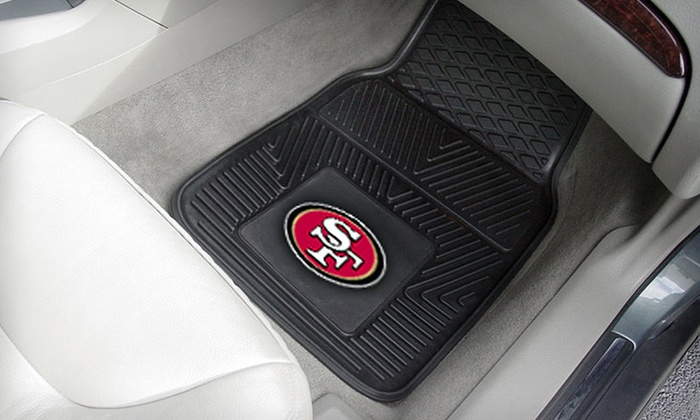 Two NFL Vinyl Car Mats: $17 for Two NFL Heavy-Duty Vinyl Car Mats ($49.99 List Price). 18 Teams Available. Free Shipping.
