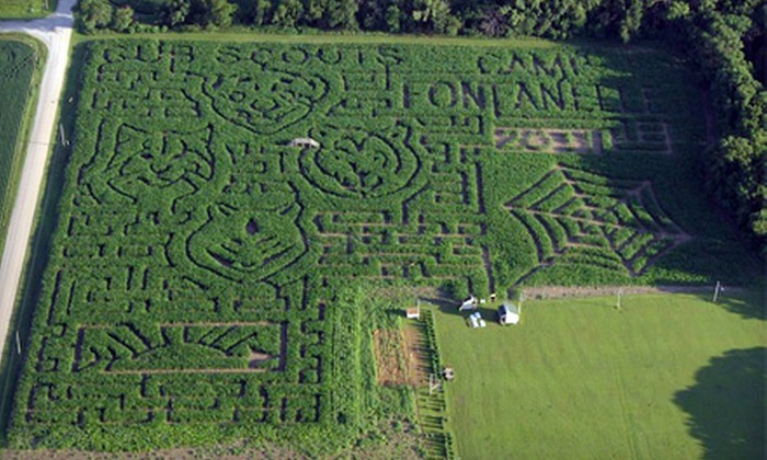 Camp Fontanelle - Fontanelle: Pumpkin-Patch & Corn-Maze Admissions for Two, Four, or Six or Admissions & Group Laser Tag at Camp Fontanelle in Fontanelle