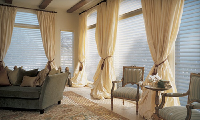 Omaha Drapery&Blind - Underwood Avenue: Blinds, Draperies, or Custom Window Treatments at Omaha Drapery&Blind (Up to 67% Off). Three Options Available.