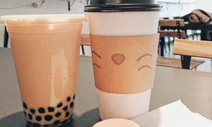 Blank Space Cafe: Two Bubble Teas at Blank Space Cafe (40% Off)