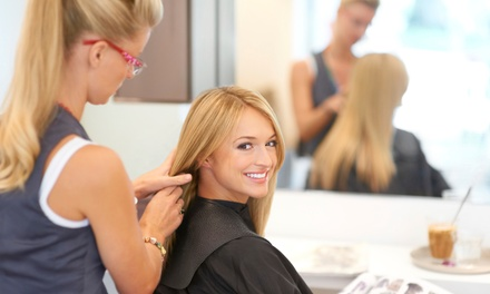 Deep-Conditioning Haircare Package with Optional Partial or Full Highlights at Hair by Jessica (Up to 60% Off)