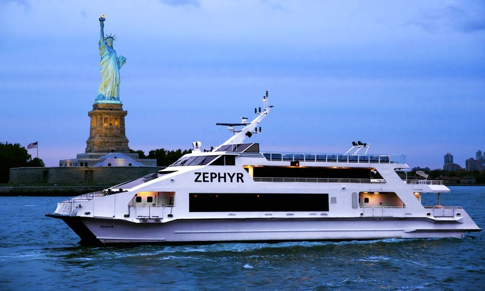 House on the Hudson - Pier 16 in South Street Seaport: Luxury-Yacht Night Cruise for Two, Four, or Six from House on the Hudson (50% Off). 28 Options Available.