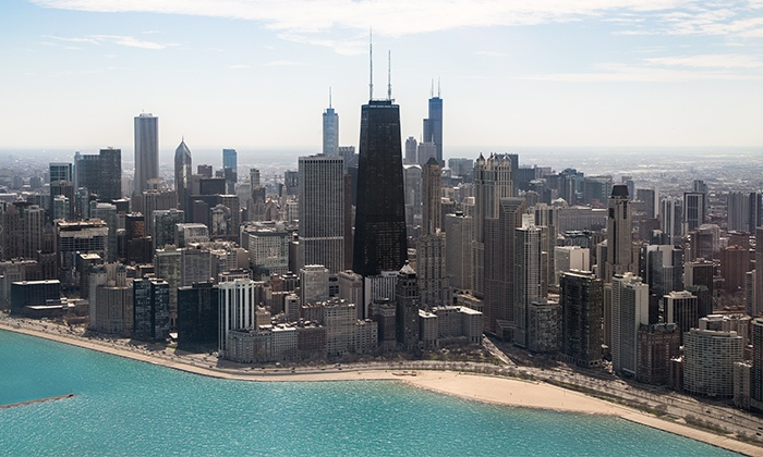 Chicago Helicopter Experience - South Side: Daytime or Nighttime Helicopter Tour for Two from Chicago Helicopter Experience
