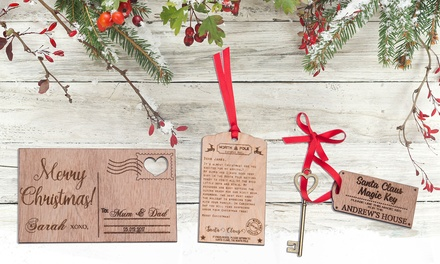.95 for Up to Four Personalised Christmas Keys, Letters from Santa or Postcards Don't Pay Up to $89.88