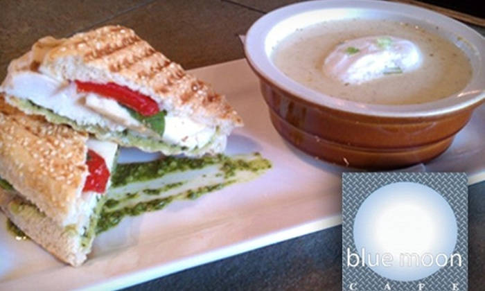 Blue Moon Café - Downtown Fayetteville: $10 for $20 Worth of Paninis and Pizzas at Blue Moon Café
